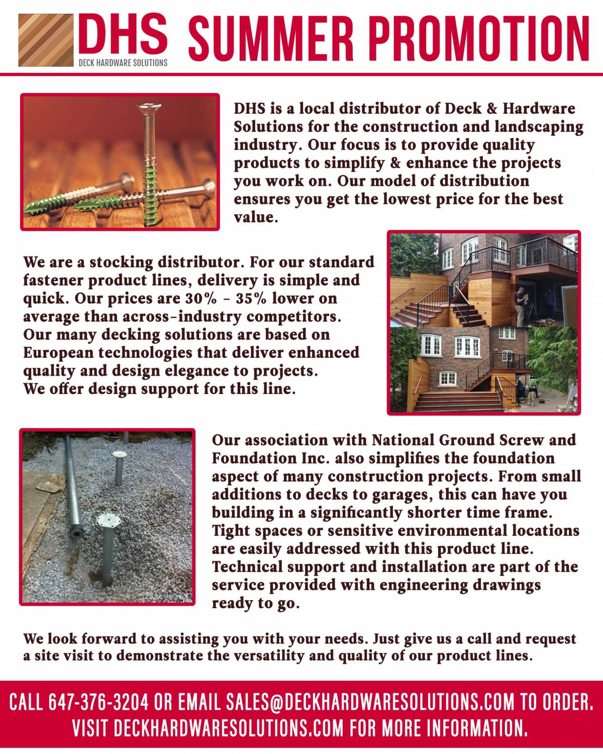 Deck Hardware Solutions Description