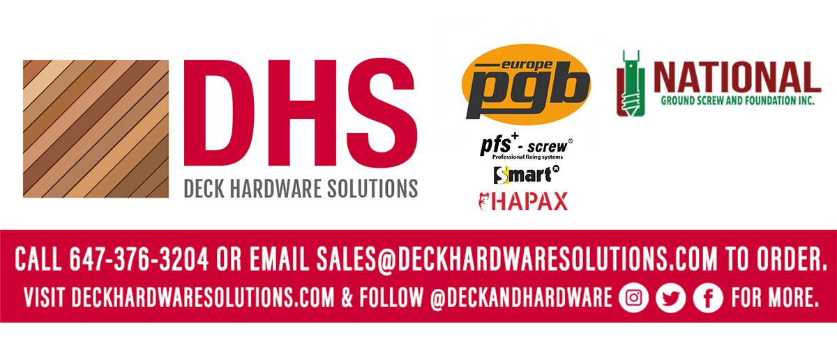 Deck Hardware Solutions is a Canadian #distributor providing #quality #products from PGB Europe to simplify & enhance your #construction & #landscaping #projects.
